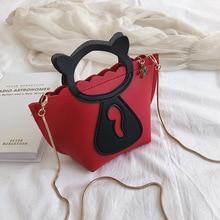 Индивидуальная цепочка для кота мини Повседневная сумка в Корейском стиле новая стильная сумка на одно плечо.
