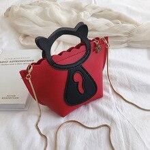 Bireysel kedi zinciri mini rahat çanta Kore tarzı yeni stil tek omuz tek omuz askılı çanta.