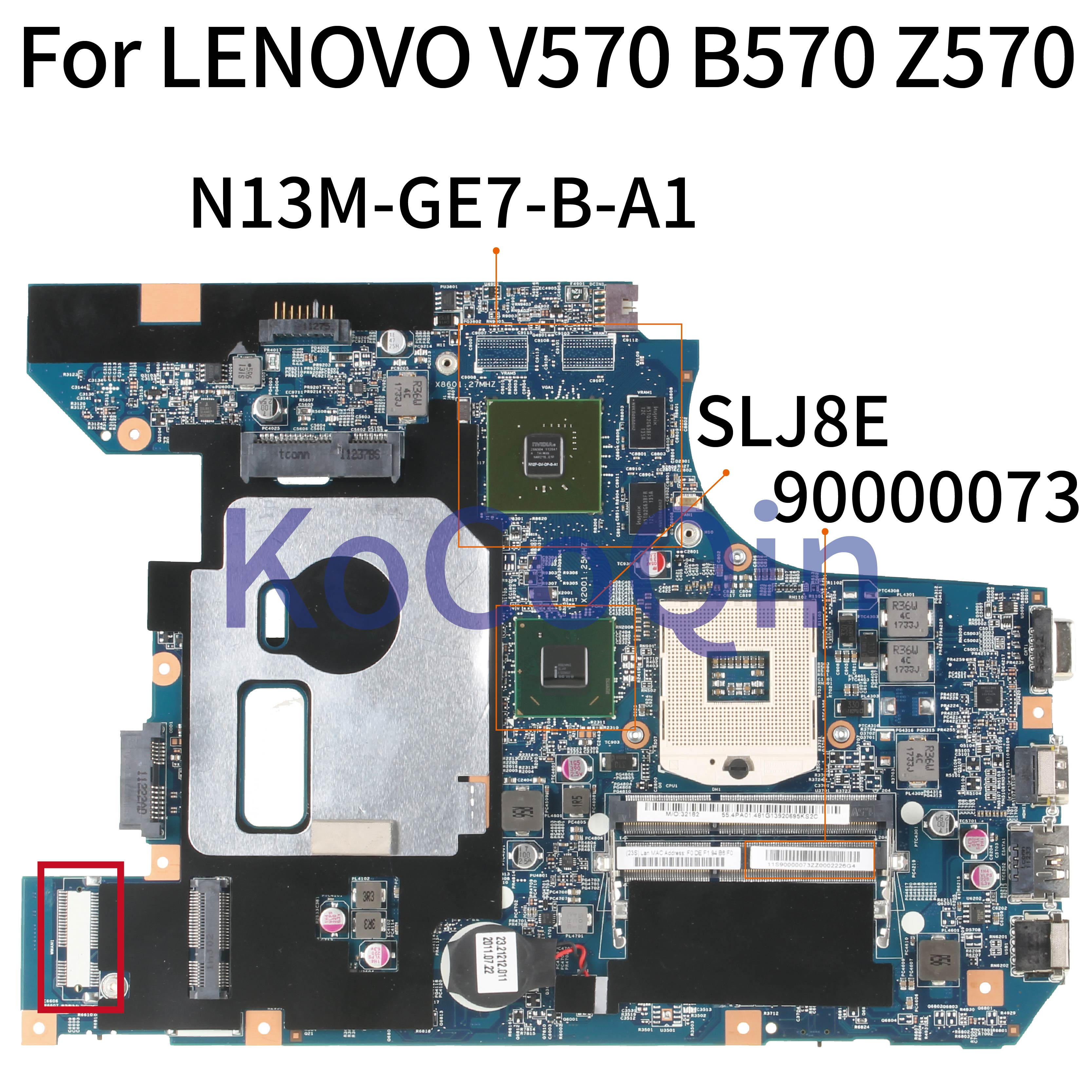 KoCoQin Laptop <font><b>motherboard</b></font> For <font><b>LENOVO</b></font> <font><b>V570</b></font> B570 Z570 10290-2 90000073 Mainboard HM65 N12P-GV-OP-B-A image