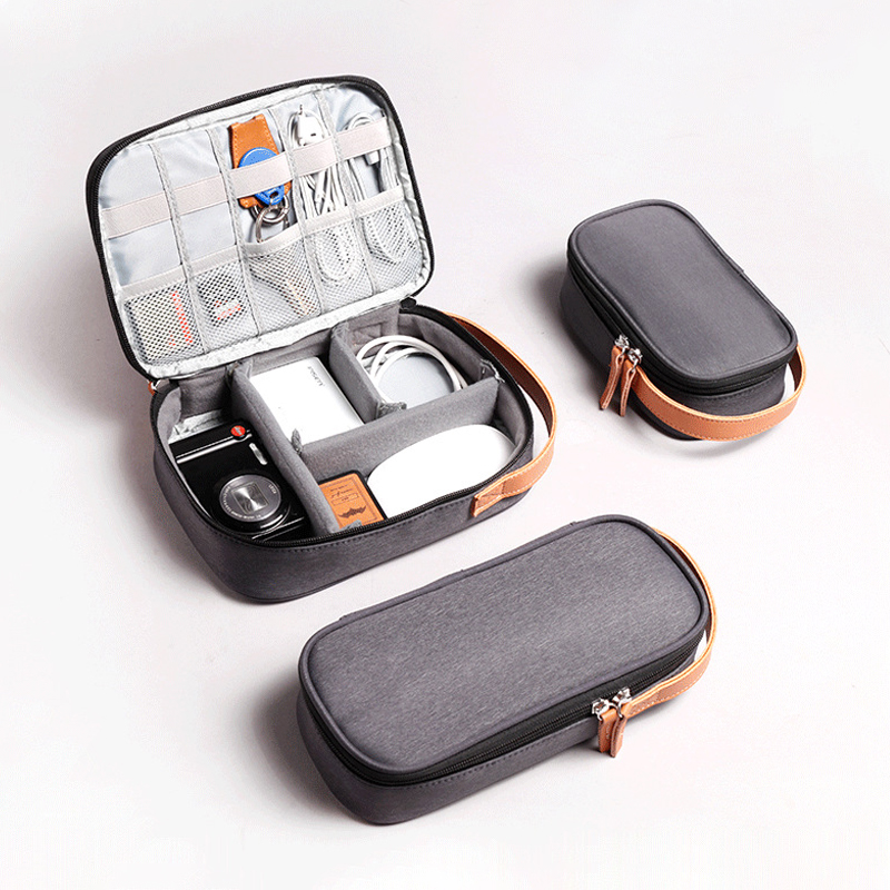 Portable Travel Cable Bag Wires Charger Electronic Accessories Digital Gadget Devices Divider Organizer Case Cosmetic Kit Pouch