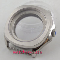 40MM Caixa do Relógio de Cristal de Safira de luxo Caso SS Apto Para ETA 2836 82 Miyota Movimento Automático do Relógio Tampa