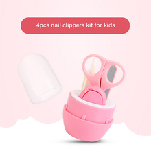 Baby nail clipper 4 piece set care kit kid safety scissors baby file clippers