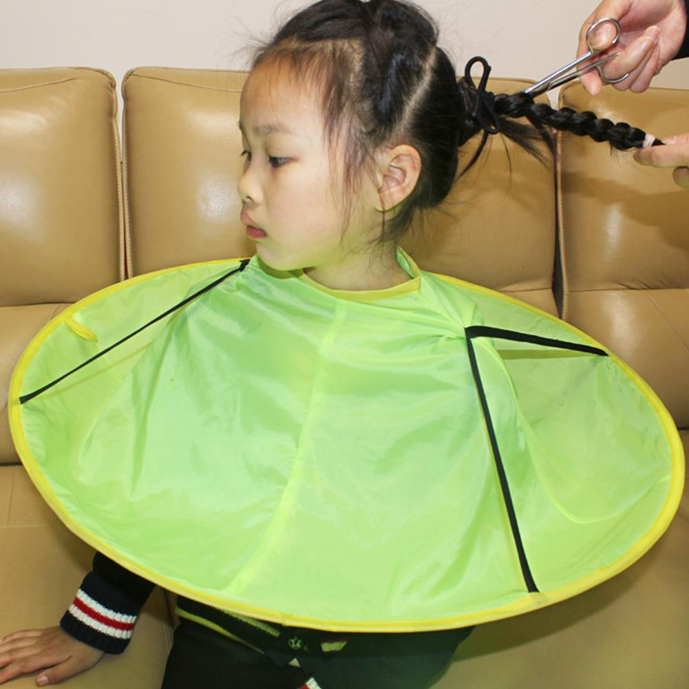 None Kids Cartoon Hair Cutting Apron Overclothes Waterproof Printing Hair Cutting Cape Multi Color Cartoon 60cm In Diameter