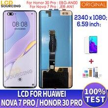 6.59 lcd lcd para huawei nova 7 pro JER-AN1 display lcd de toque digitador da tela para huawei honor 30 pro lcd EBG-AN00 substituir