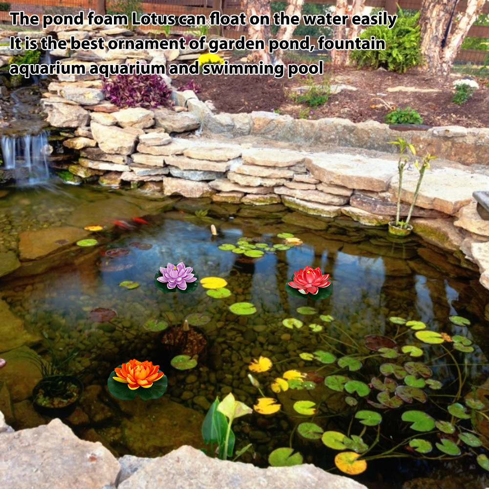 Ha54ce8d0ba9f4f7badd10fec3ed03f7aw - Simulation Lotus Water Lily Decoration Pond Swimming Pool Suitable For Indoor And Outdoor Applications Garden Water Decoration