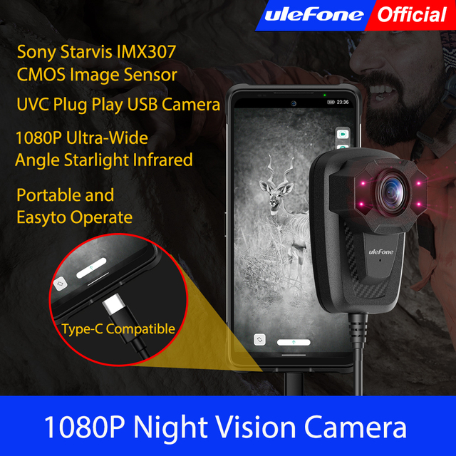 Ulefone câmera de visão noturna 1080p ultra grande angular luz das estrelas infravermelho uvc plug play usb câmera para xiaomi para huawei para redmi