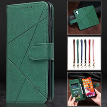Case For MOTOROLA E5 E6Plus G6 G7 G8 Power Play Flip Wallet Leather Card Stand Cover Geometric Pattern Rhombus Mobile Phone Case leather filp case for motorola moto g7 power play e6 lanyard rhinestone card wallet phone cover coque for google pixel 4 xl case