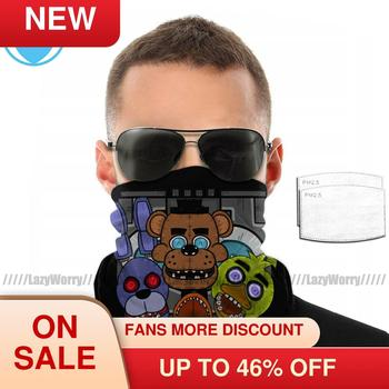 Five Nights At Freddy Mouth Face Mask Facial with Filters Polyester Cool