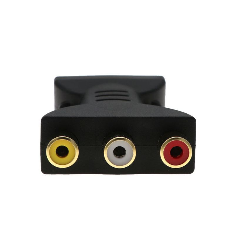 Купить с кэшбэком Audio Adapter Portable Gold Plated Television Computer Wire Cable Cord Jack Plug USB Male To 3 RCA Female Connector