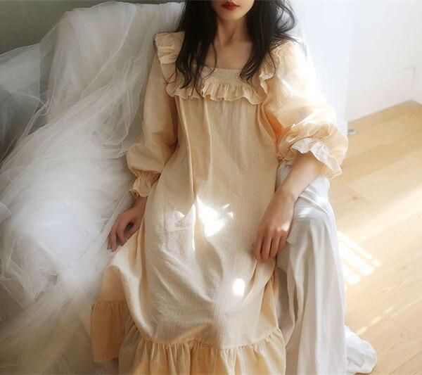 Nightgown Lady Sleepwear Dress Princess Women Nightshirts For Women Nightgown