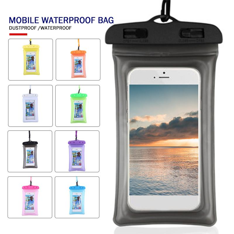 Fashion Multicolor Portable Sporting Goods Cell Phone Accessories Waterproof Bag Mobile Waterproof Bag Outdoor Sports Diving