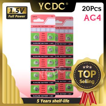 YCDC 20 sztuk Ag4 alkaliczna guzikowa bateria ogniwowa G4 GA4 GP377 L626 177 376 377 565 377A AG4 D377 LR626 LR66 SR626 SR626SW SR66 V377 tanie i dobre opinie CN (pochodzenie) 17mah 1 55V About 6 8mm 0 27 alkaline batteries EE6881 0 007 China (Mainland) toys calculators laser pointers calculators cameras
