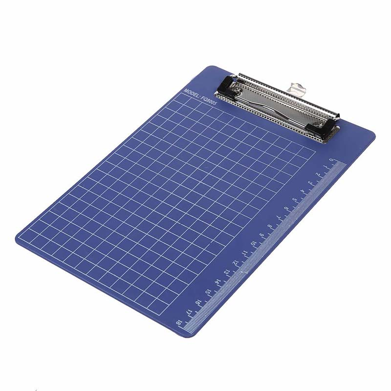 Pad Clip Holder Folder Plastic Clipboard Blue Purple For Paper A5