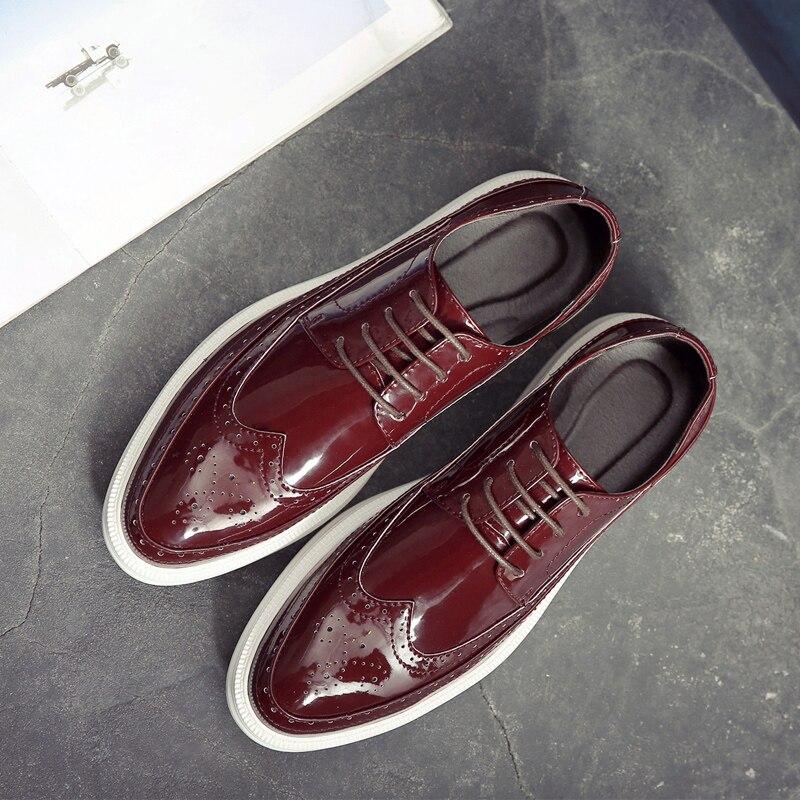 QWEDF 2019 en cuir véritable hommes chaussures d'affaires Oxfords hommes chaussures décontractées en cuir de vache chaussures pour homme masculino adulto X10 87 - 3
