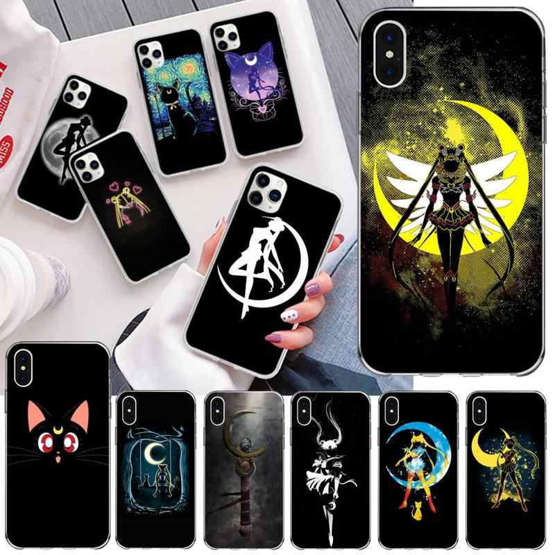 CUTEWANAN śliczne Sailor Moon Anime etui na telefony dla iPhone 11 pro XS MAX 8 7 6 6S Plus X 5S SE 2020 XR okładka