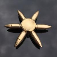 Spinner de mano con forma de bala y núcleo de cobre para adultos, juguete antiestrés, con caja