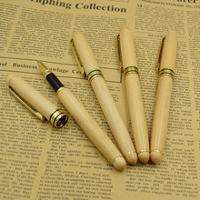 (12 Pieces/Lot) Nature Crude Wood Gel Pen Wholesale 0.5 mm Black Ink Signature Pens Office Learning School Joy Corner