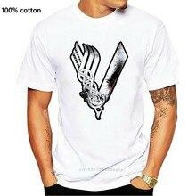 Wikingowie Logo T-Shirt - Wikinger Tv Serie Yggdrasil Thor koszulka z motywem wikingów 2019 nowy modny gorąca sprzedaż mężczyzn wysokiej jakości Logo koszule