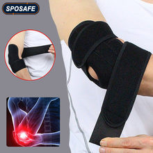 Sports Adjustable Neoprene Elbow Brace Wraps Black Breathable Arm Support Strap Band Joint Sprain Protection Tennis Golfers Men