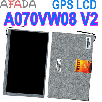 Original 7 GPS LCD screen display A070VW08 V2 V0 800*480(RGB) For Mt6070ih for Tablet PC MID GPS lcd screen for car dvd gps new 7 inch lcd screen at070tn90 929394 vehicle dvd navigation display screen