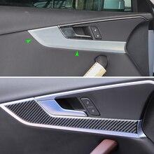 Auto Carbon Fiber Interieur Deurklink Panel Cover Sticker Trim Voor Audi A4 B9 A4L 2017 2018