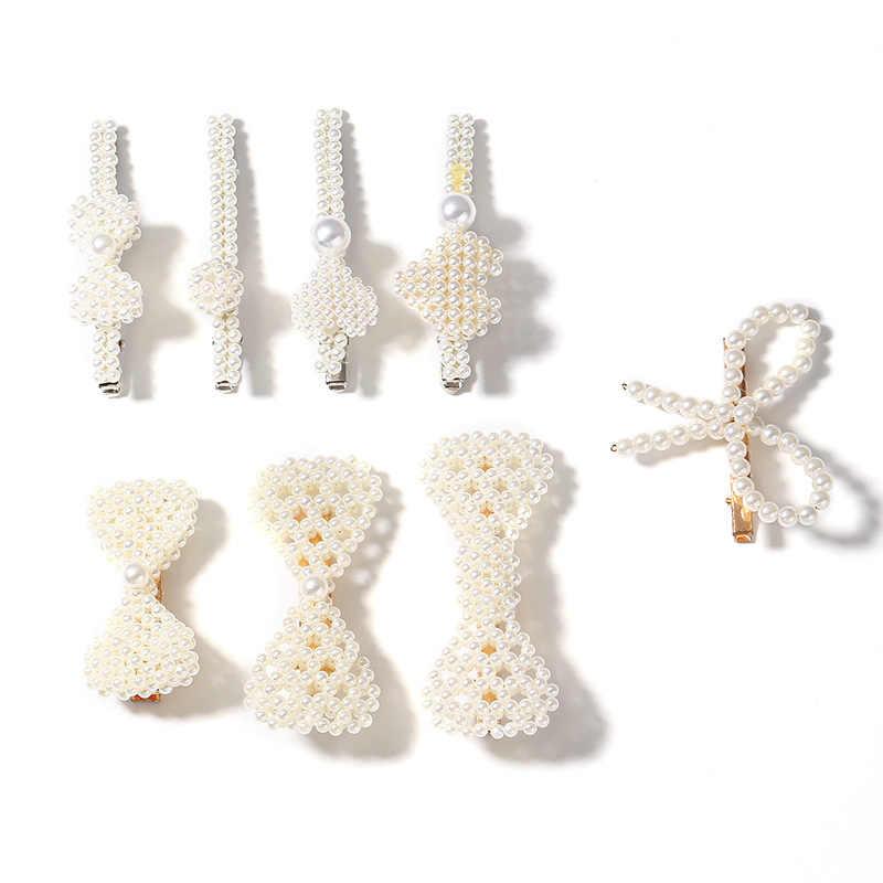 Horquillas de moda para mujer, pinzas para el pelo llenas de perlas, horquillas con broche, herramientas de estilismo para el cabello, accesorios para el cabello, regalo para el pelo
