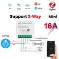 Tuya Zigbee умный переключатель Беспроводной триггерный релейный модуль 2 Way Управление Беспроводной Wi-Fi таймера голосового Управление работать...