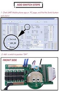 Image 4 - Bms 10s 30a/40a/50a inteligente ativo bms 10s 42v li ion inteligente bms pcm com android bluetooth app uart bms wi software (app) monitor
