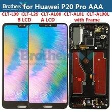 Tela lcd para huawei p20 pro, digitalizador de ecrã lcd para p20 pro CLT L09 CLT L29 CLT AL00, CLT AL01, montagem por toque teste teste teste
