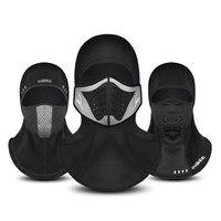 Ciclismo respirável velo rosto cheio cachecol filtro máscara com camada de filtro boné pescoço ciclismo dustproof preto respirável máscara facial