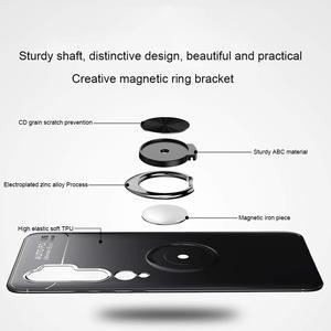 Подставка с магнитным кольцом держатель Чехлы для Xiaomi Mi-10 Note 10 PhoneCase Силиконовая задняя крышка xaomi Mi Note10 Mi 10Pro mi10 мягкое стекло xiaomi mi10 pro чехол на ми10 сяоми ми нот10 ми-10 про case mi10