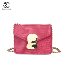 RARE CREATIVE Luxury Leather Women Bags Designer Chain Solid Small Bag Sling Messenger Vintage PU Shoulder PS8026
