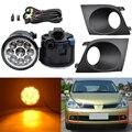 Комплект противотумансветильник для автомобиля, 1 пара, для Tiida /Latio Style 2007 2008 2009 2010 с крышкой и проводом для противотуманной фары