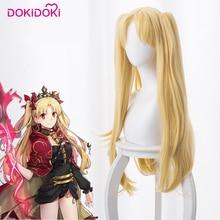 DokiDoki Game Cosplay Wig Fate/Grand Order Ereshkigal Women Long Blonde Straight Heat Resistant Hair Fate/Stay Night