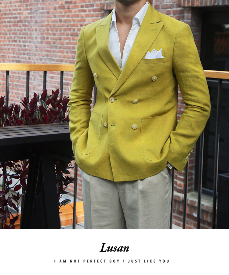 Blazer masculino estilo britânico, jaqueta slim, moda