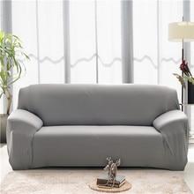 Funda de sofá elástica de Color sólido, funda de sofá de esquina de poliéster moderno de Spandex, Protector de sofá, Protector de Silla, sala de estar, 1/2/3/4 plazas