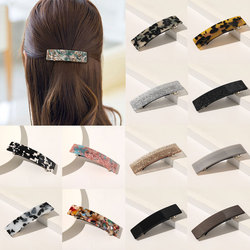 1PC Vintage Hair Clips for Women Leopard Marble Geometric Hairpins Retangle Acetate Barrettes Hairpins Girls Hair accessories