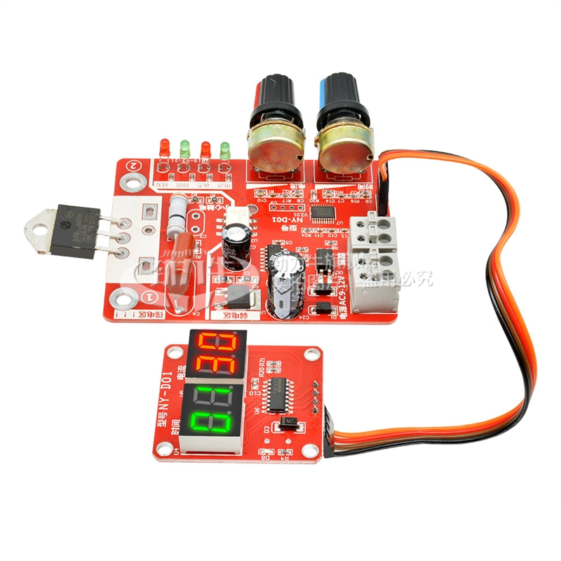 DIY Spot Welding Machine Control Board Adjustable Time And Current Digital Display Single Chip Microcomputer Transformer