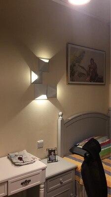Ha54f00bdd04b4fb79fa552d9f90401afn - LED Modern Geometric Iron Acryl Black White DIY Magic Box LED Lamp LED Light Wall lamp Wall Light Wall Sconce For Store Bedroom