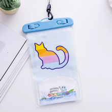 Summer Luminous Waterproof Pouch Swimming Gadget Beach Dry Bag Phone Case Cover Cartoon Animal Print Holder For Cell Phone(China)