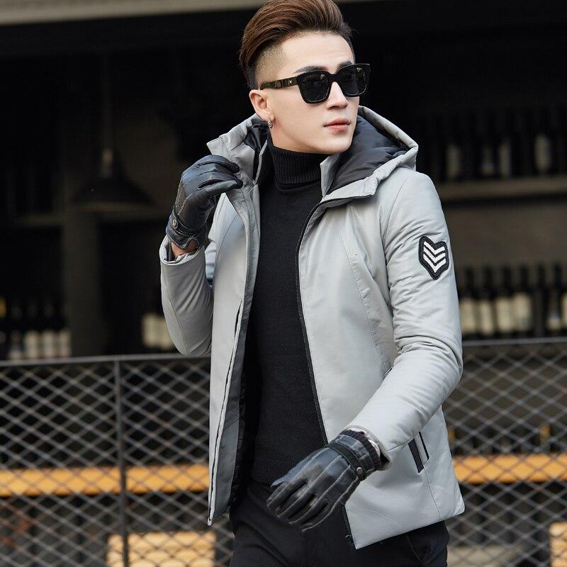 Genuine Leather Jacket Men Winter Warm Jackets Mens Hooded Real Sheepskin Coat Duck Down Coats Jaqueta Couro XSLS17619 YY414