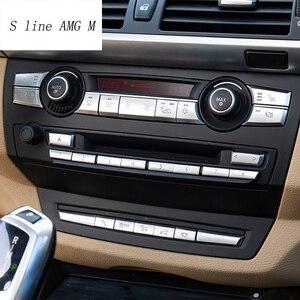 Autocollants de garniture pour BMW X5 X6 | Boutons de panneau CD, boutons de décoration à paillettes, accessoires intérieurs pour BMW X5 X6 E70 E71 E72