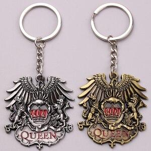 Rock Band Queen Keychain Bohemian Rhapsody Logo Eagle Crown Alloy Key Chain Ring Holder Fashion Jewelry Accessory Chaveiro(China)