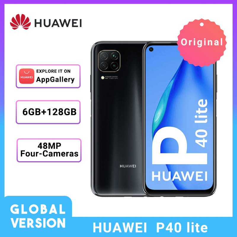 Huawei P40 Lite Global Version 6GB 128GB 6.4'' FHD Scree 48MP AI Cameras Smartphone Kirin 810  Octa Core 40W QC