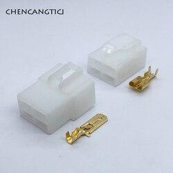 5 комплектов 4 Pin способ негерметичный разъем авто Электрический жгут проводов кислородный датчик 6,3 мм мужской или женский белый разъем ...