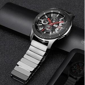 Керамический ремешок для Samsung Galaxy watch 46 мм ремешок Gear S3 Frontier браслет 3 46 22 мм браслет Huawei watch GT 2 ремешок GT2 22 мм