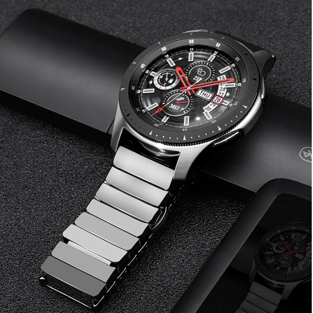Ceramic strap for Samsung Galaxy watch 46mm band Gear S3 Frontier bracelet 3 46 22 mm bracelet Huawei watch GT 2 strap GT2 22mm