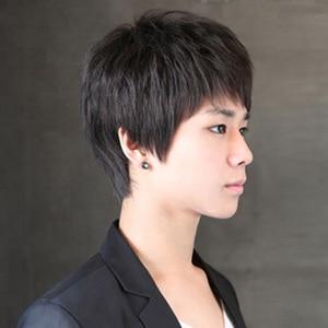 Image 3 - MUMUPI Synthetic Black Short men Wig Straight Wigs 100% Natural Real Hair Natural Hair Heat Resistant Wigs