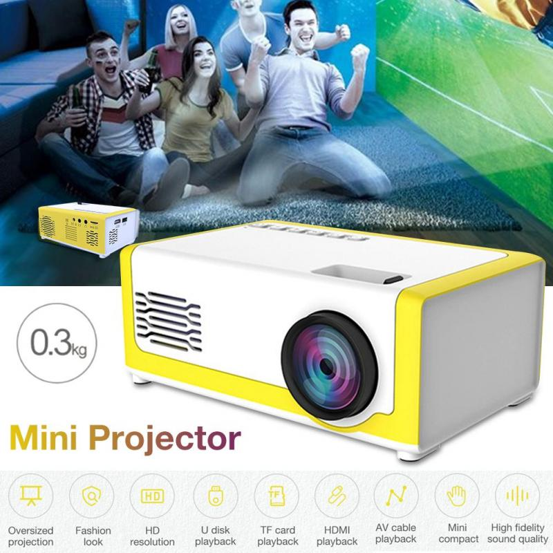 Mini Projector <font><b>LED</b></font> 320x240 Pixels Proyector Supports 1080P <font><b>YG</b></font>-<font><b>300</b></font> HDMI USB Audio Portable Projector Camara Video Conferencia image