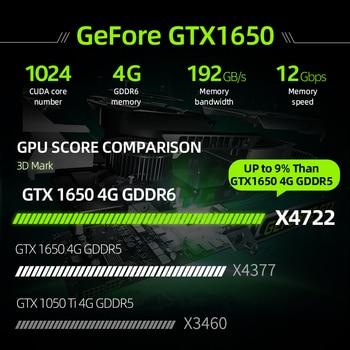 Machenike T90 Newest Gaming laptop i7 10750H GTX1650 Computer Laptops 16GB RAM 512G SSD 1T HDD 15.6'' 6mm Border IPS Notebook 2